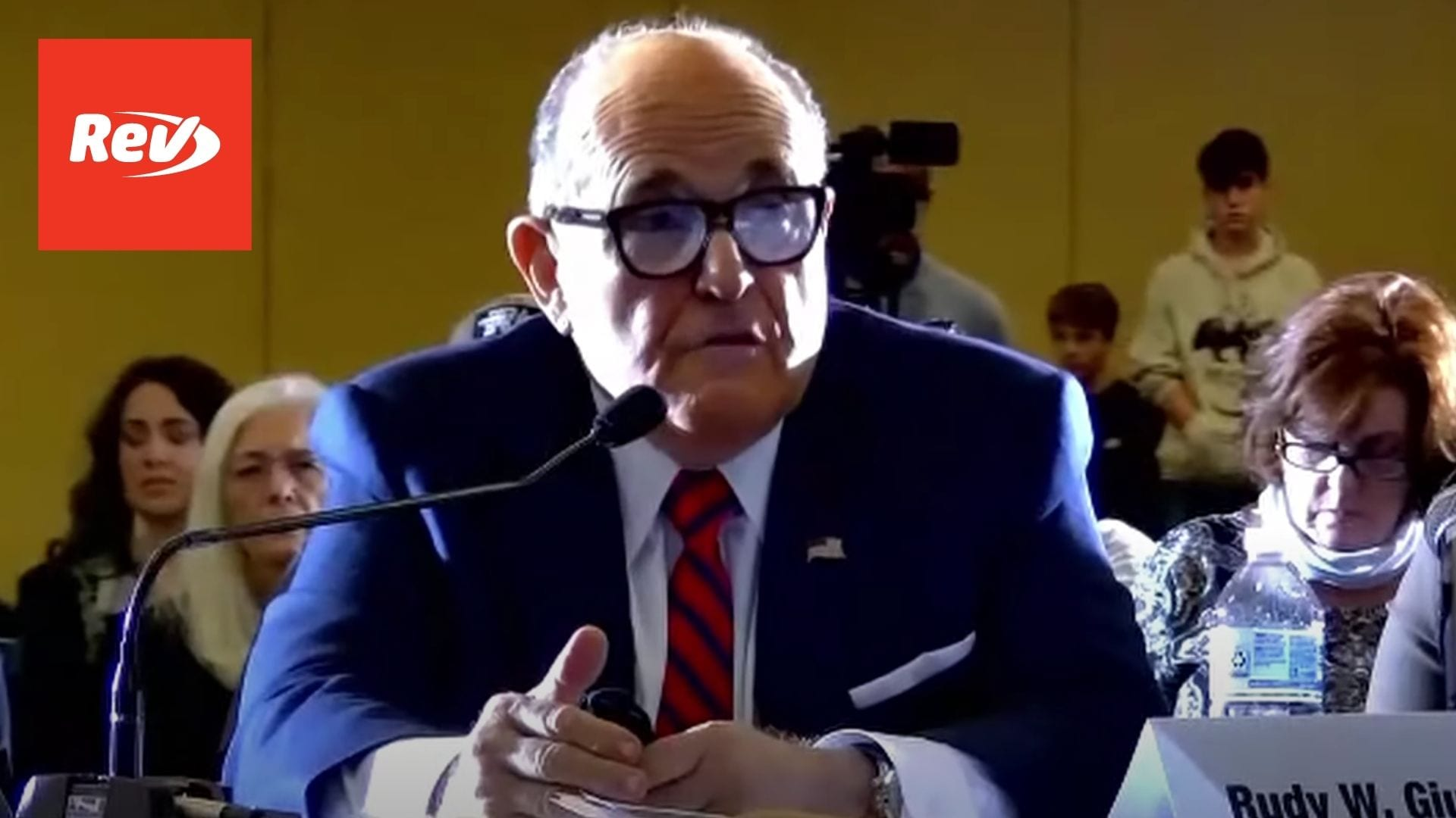 Rudy Giuliani Attends Hearing on Election Pennsylvania