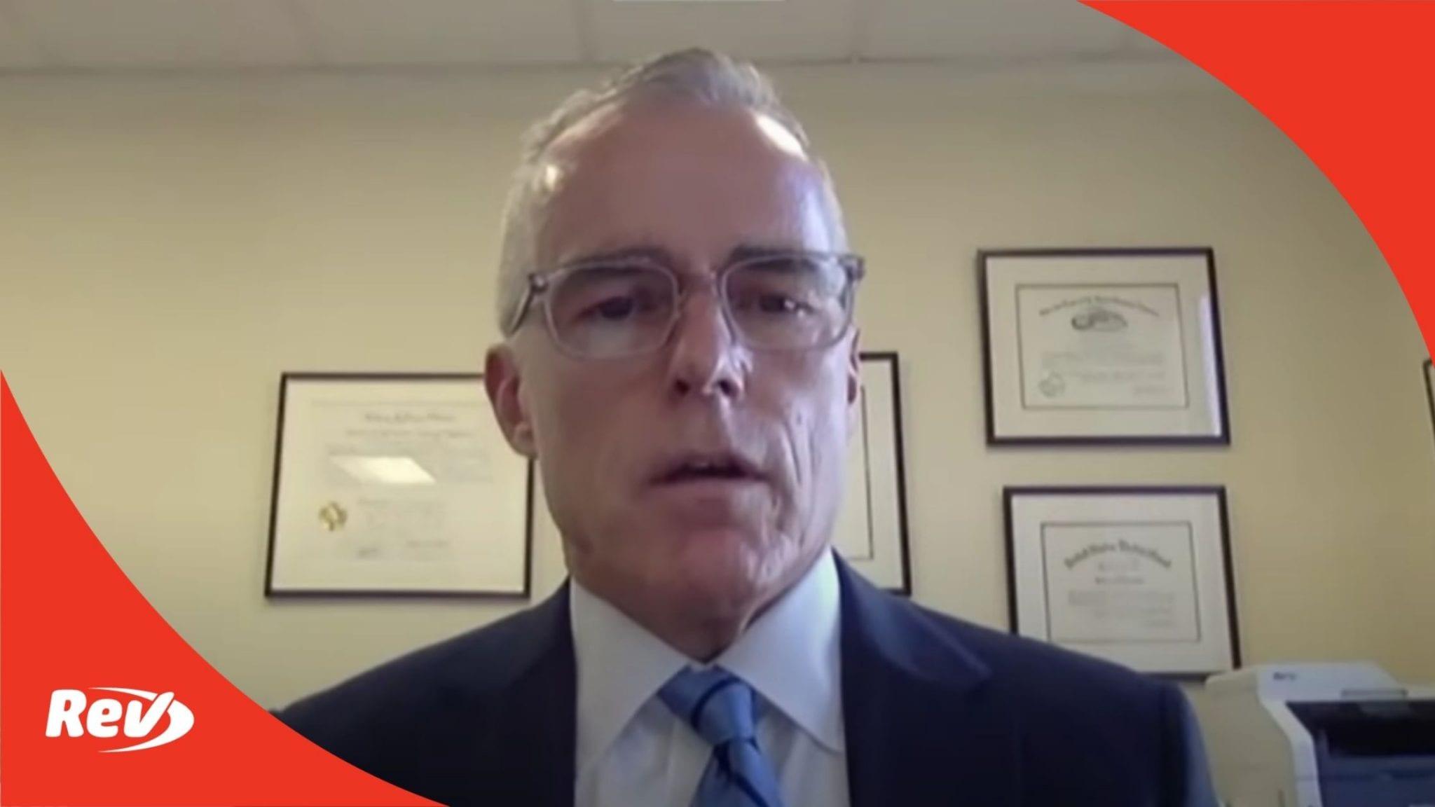Former FBI Deputy Director Andrew McCabe Testimony on Russia Probe Transcript
