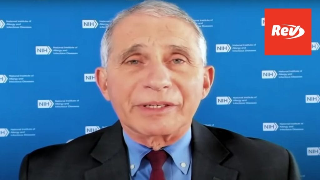 Dr. Fauci Speech at NIH COVID-19 Summit Transcript November 6