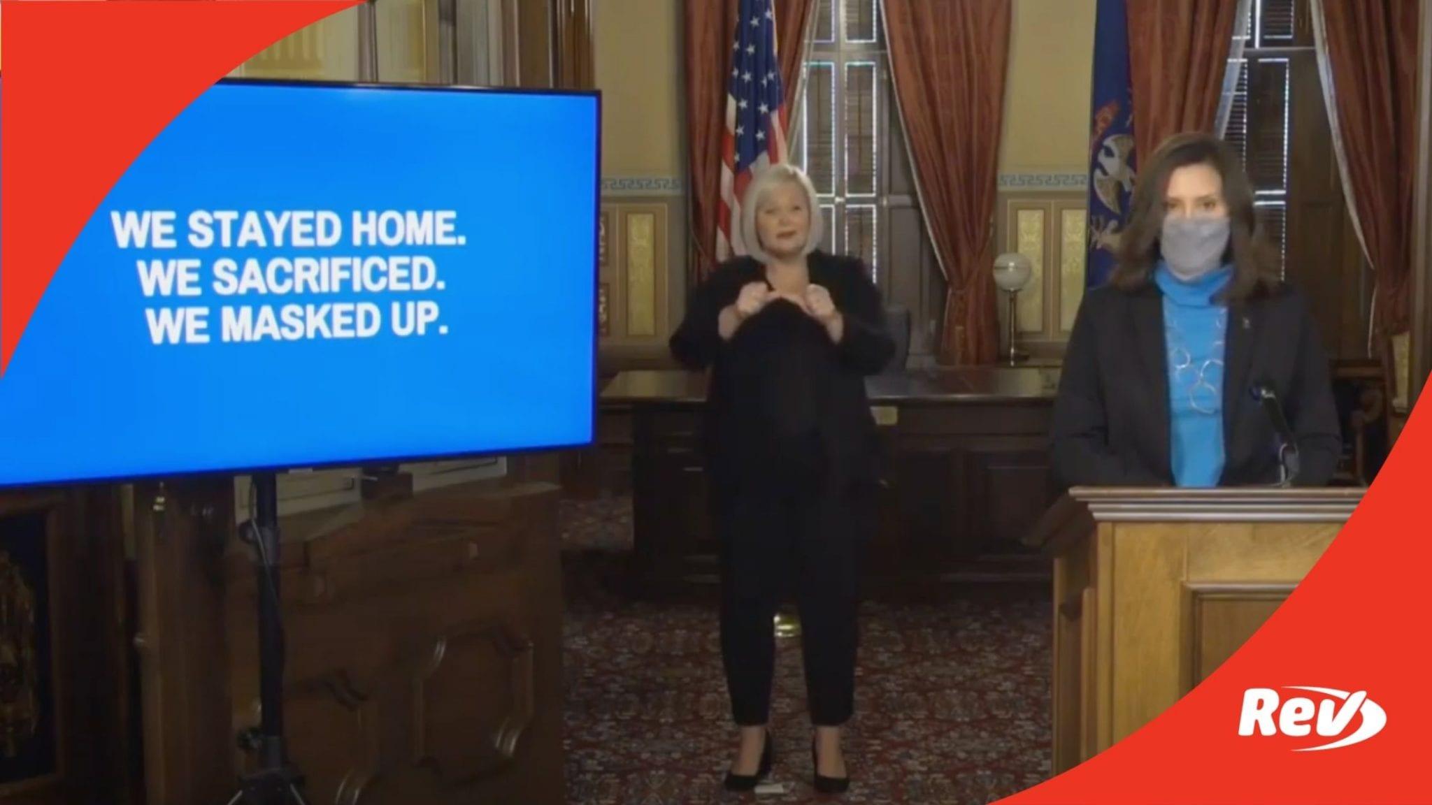 Michigan Governor Gretchen Whitmer COVID-19 Press Conference Transcript November 12