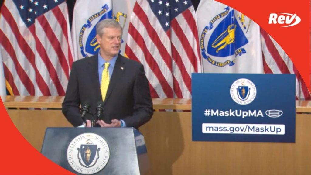 Massachusetts Governor Charlie Baker Press Conference Transcript November 13