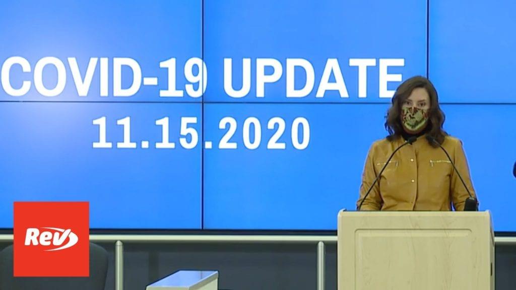 Michigan Governor Gretchen Whitmer COVID-19 Press Conference Transcript November 15
