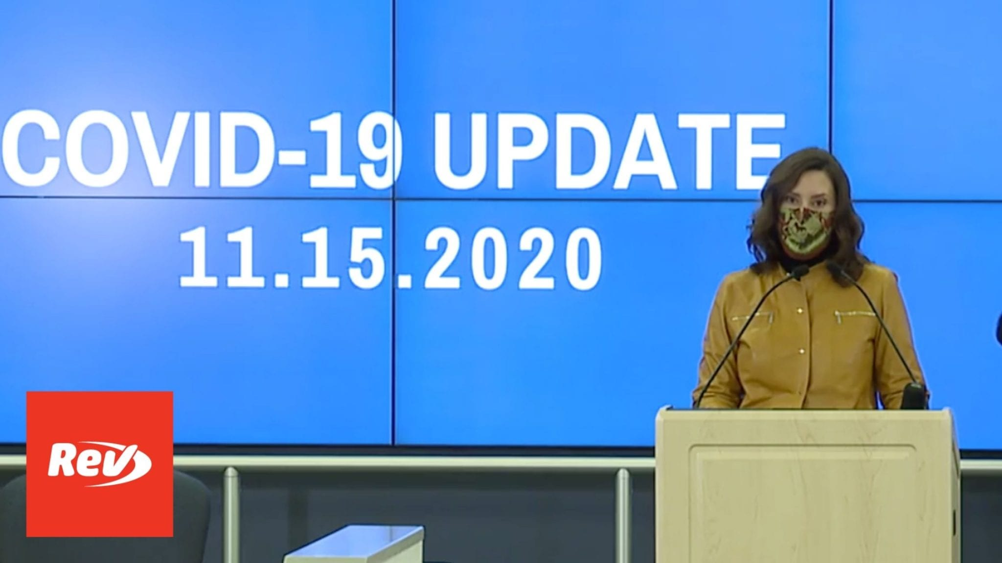 Michigan Governor Gretchen Whitmer COVID-19 Press Conference Transcript November 15