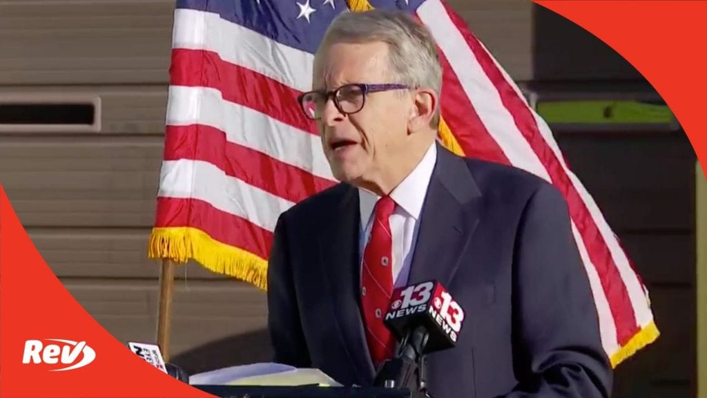 Ohio Gov. Mike DeWine COVID-19 Press Conference Transcript November 16