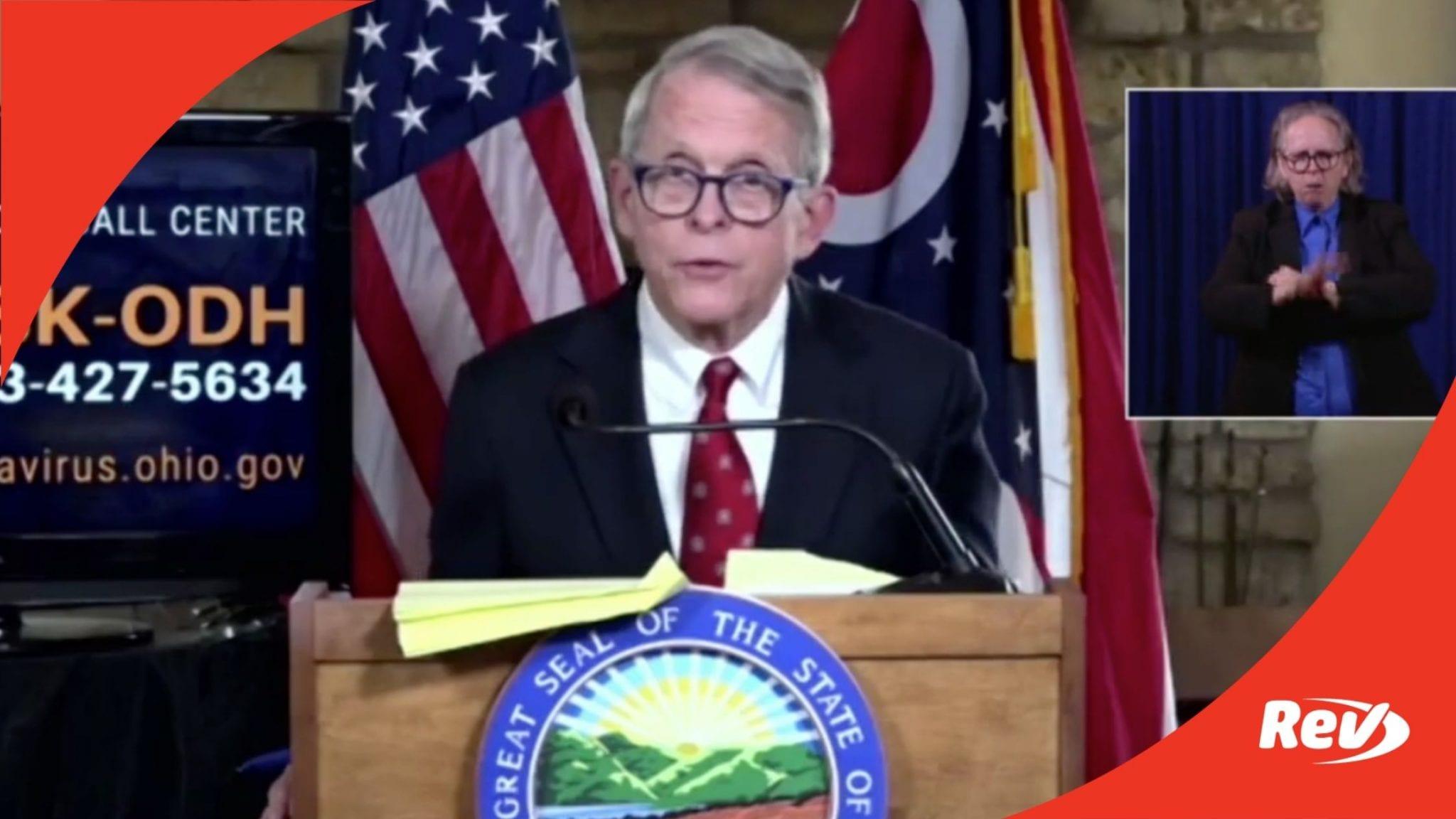 Ohio Gov. Mike DeWine COVID-19 Press Conference Transcript November 17