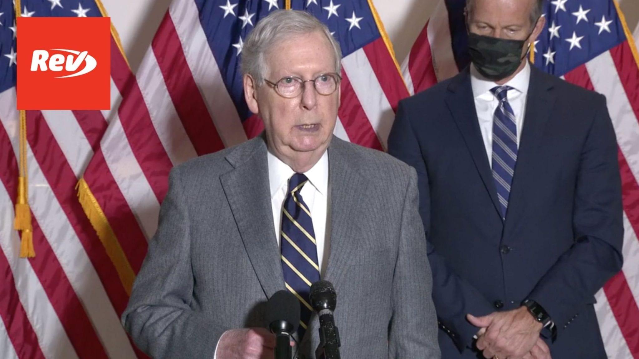 Senate GOP Press Conference Transcript November 17: COVID-19 Vaccine & Economic Stimulus