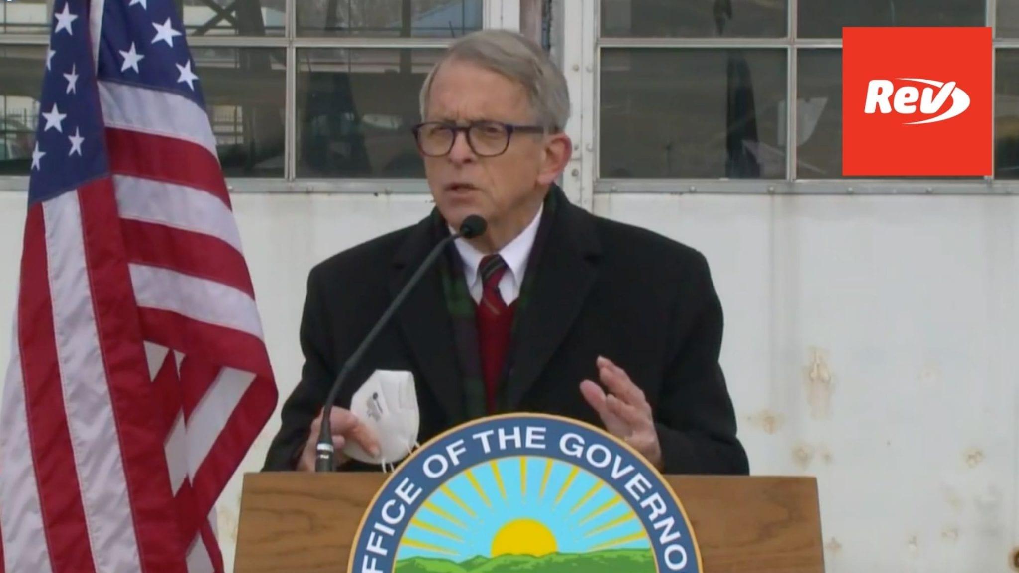 Ohio Gov. Mike DeWine COVID-19 Press Conference Transcript November 18