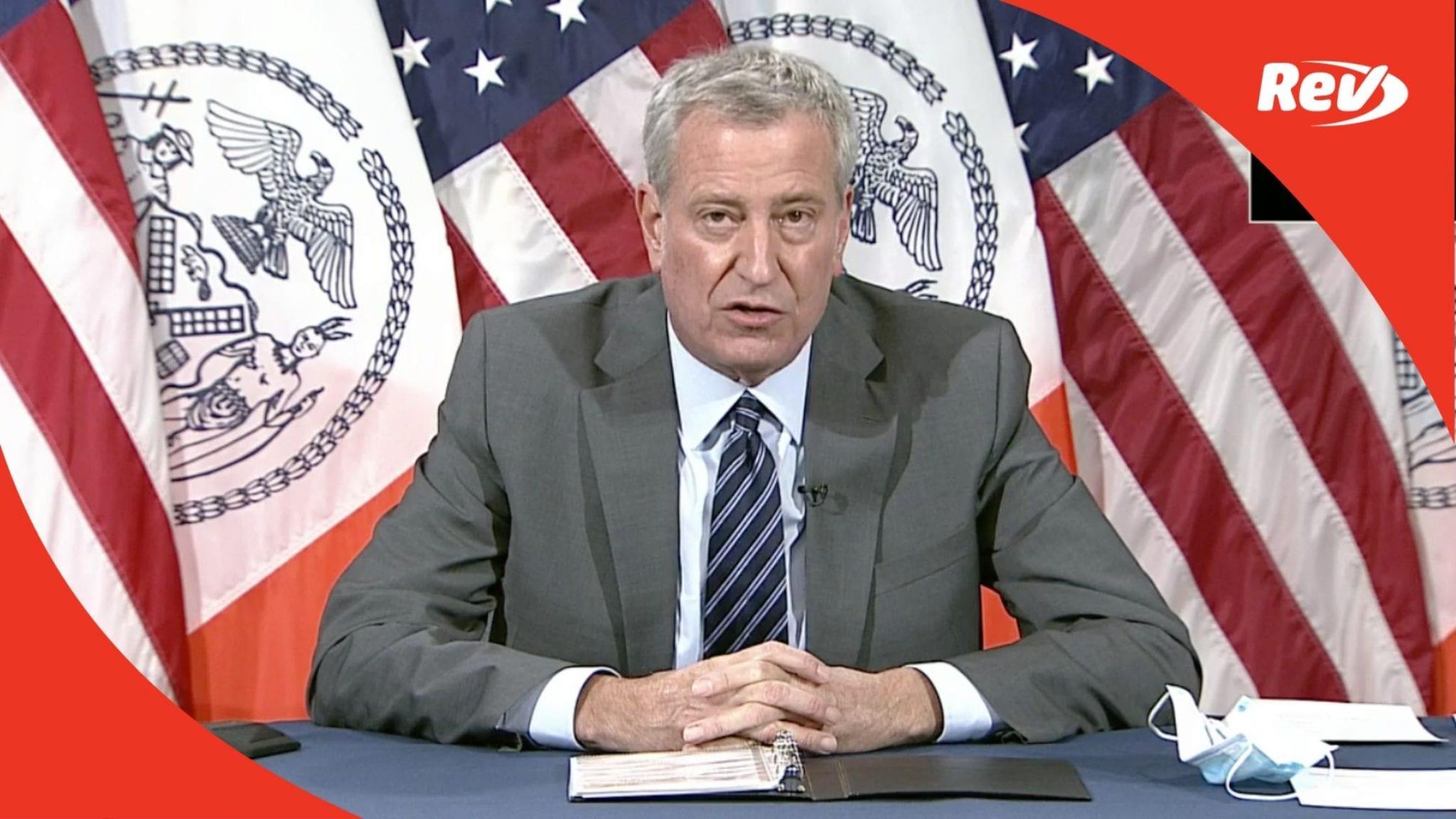 Bill De Blasio NYC Press Conference Transcript November 18: Schools Close, Move to Virtual Learning