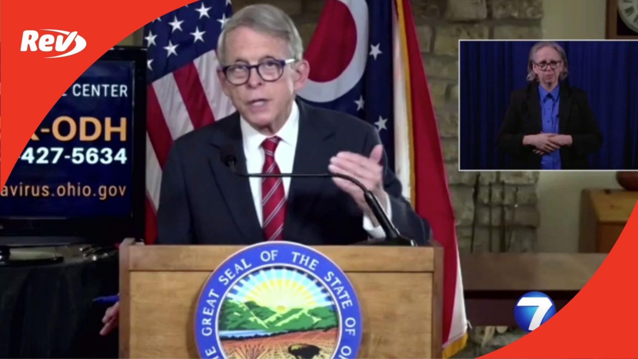 Ohio Gov. Mike DeWine COVID-19 Press Conference Transcript November 19