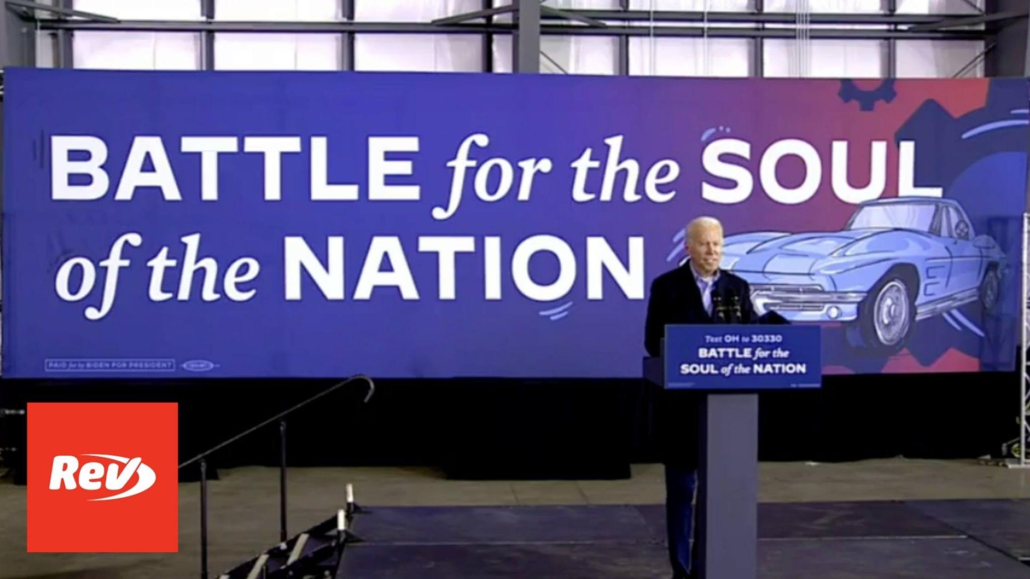 Joe Biden Drive-in Rally Speech Transcript Cleveland November 2