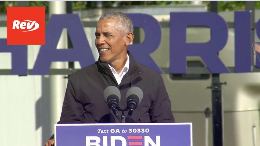 Barack Obama Drive-in Rally Speech Transcript Atlanta, GA November 2