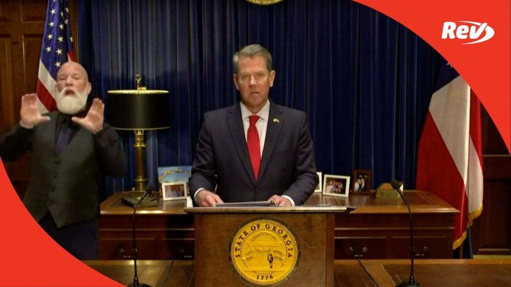 Georgia Gov. Brian Kemp Remarks on 2020 Election Transcript November 20