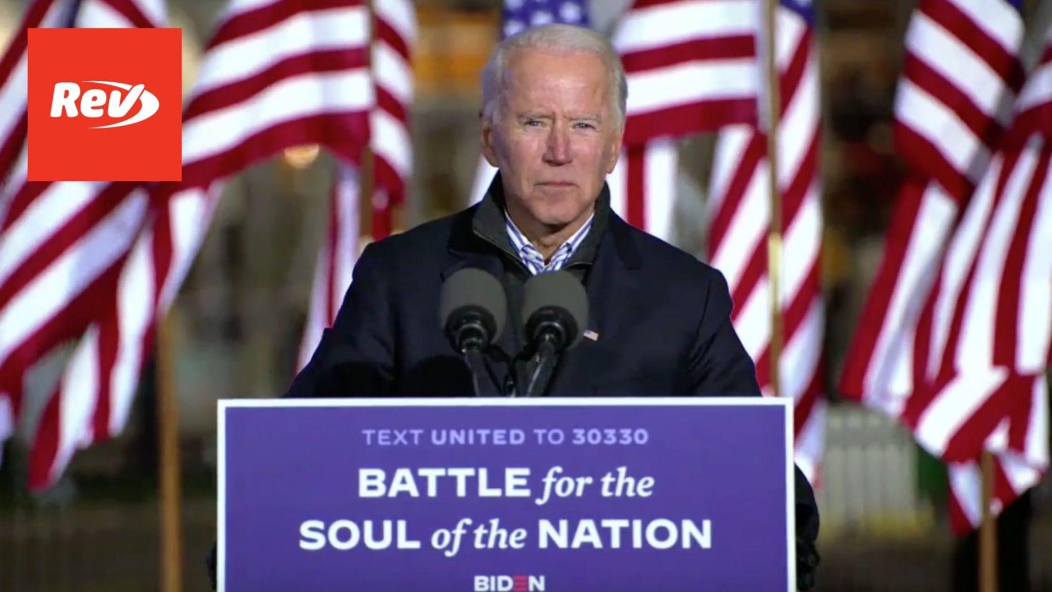 Joe Biden & Kamala Harris Election Day Eve Rally Speech Transcript November 2