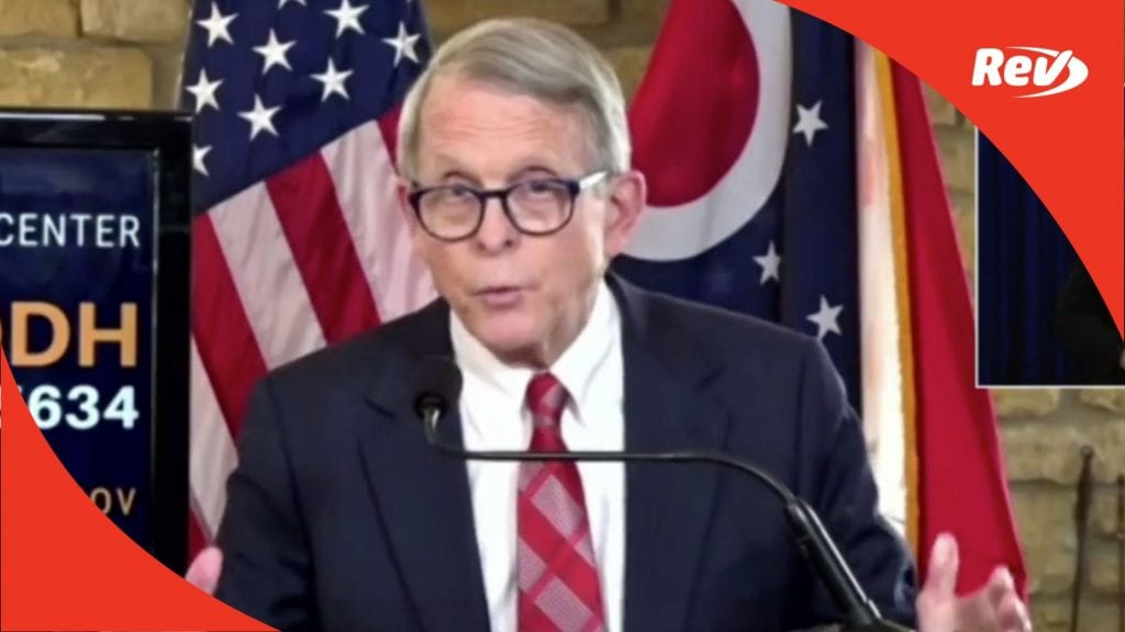 Ohio Gov. Mike DeWine COVID-19 Press Conference Transcript November 23