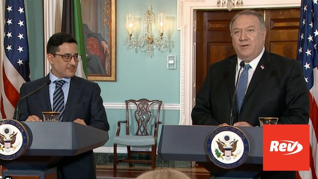 Mike Pompeo & Kuwaiti Foreign Minister Press Conference Transcript November 24