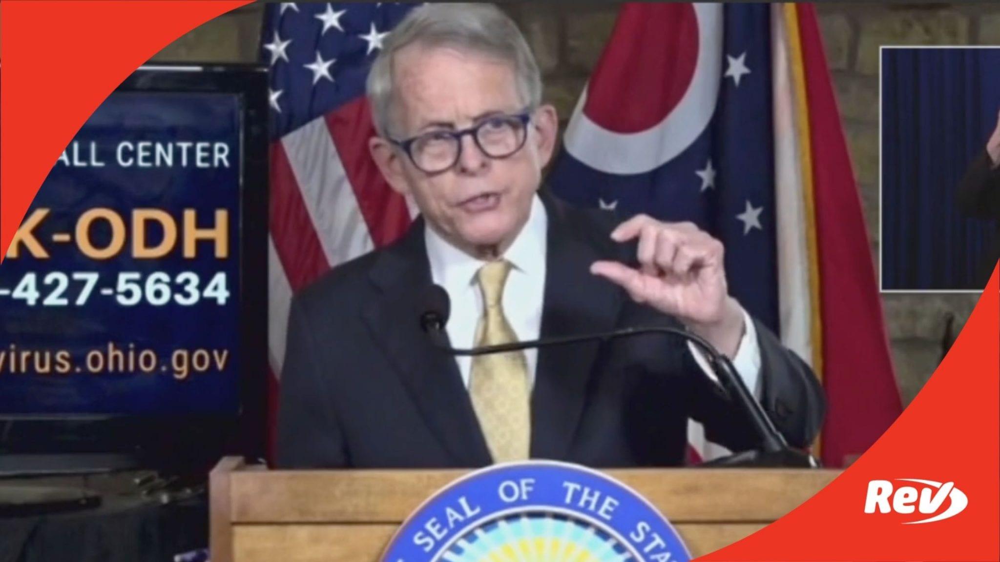 Ohio Gov. Mike DeWine COVID-19 Press Conference Transcript November 24