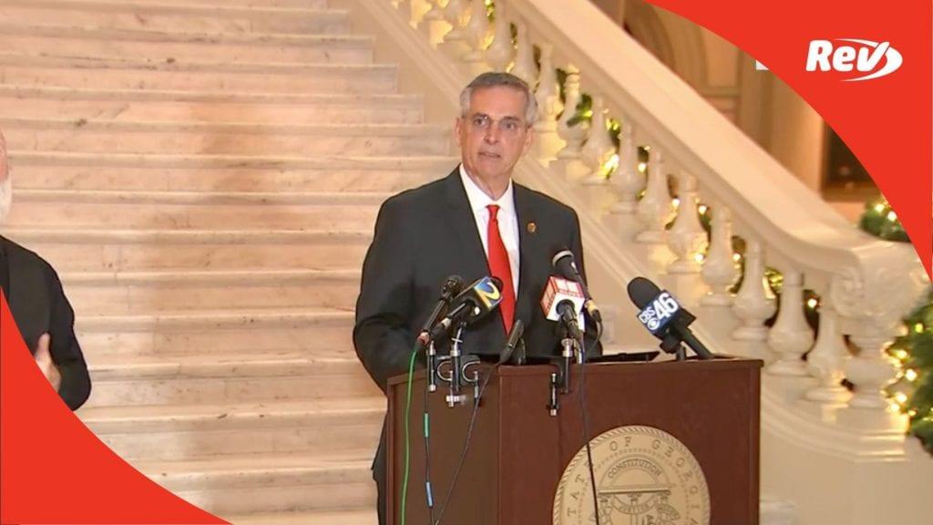 Georgia Press Conference on 2020 Election Update Transcript November 30
