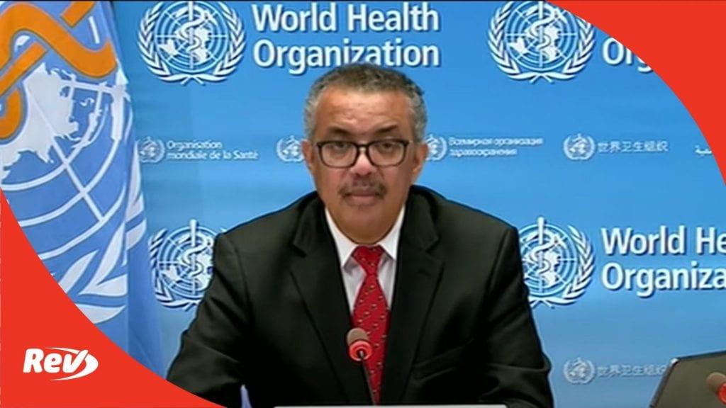 World Health Organization (WHO) Coronavirus Press Briefing Transcript November 30