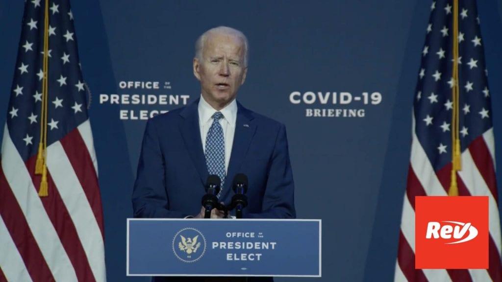 Joe Biden COVID-19 Briefing Transcript November 9: Urges Americans to Wear Masks