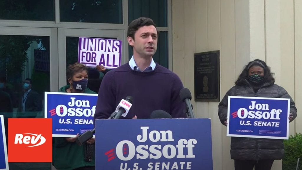 "Jon Ossoff Press Conference Transcript: ""Pattern of Misconduct and Self-dealing by Sen. David Perdue"""