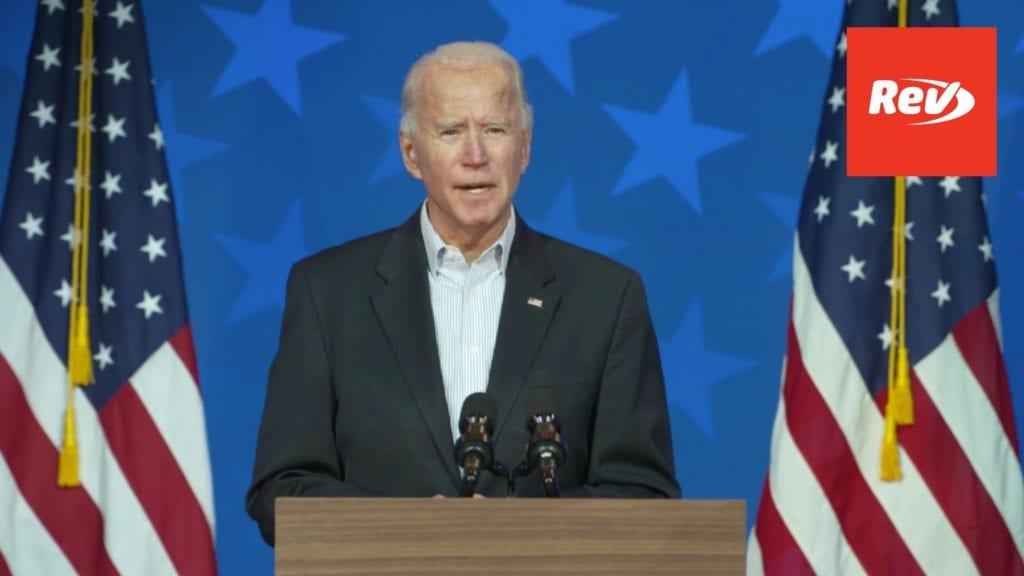 Joe Biden Covid-19 Remarks Transcript November 5