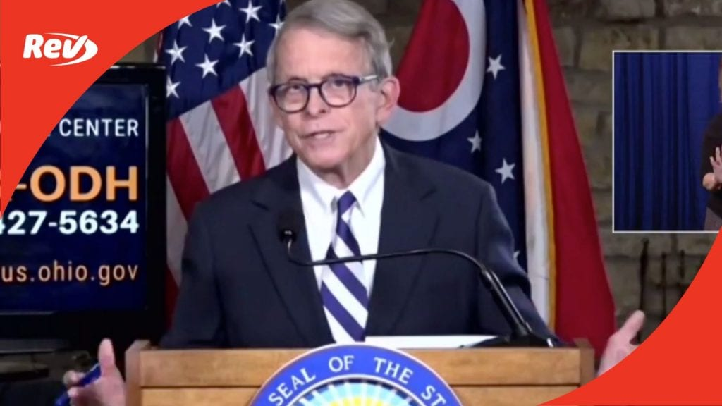 Ohio Gov. Mike DeWine COVID-19 Press Conference Transcript November 30