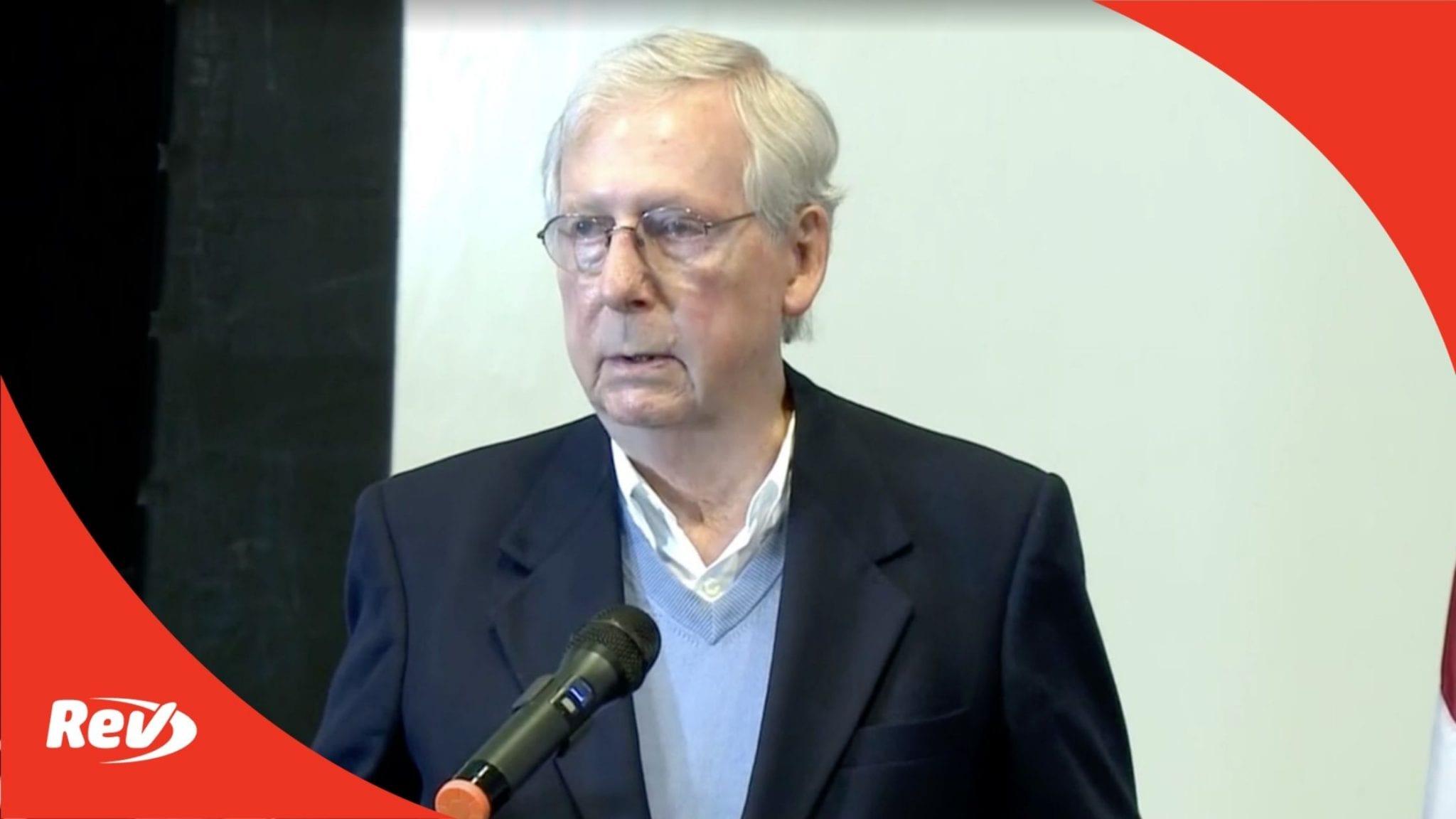 Mitch McConnell Press Conference Transcript November 6