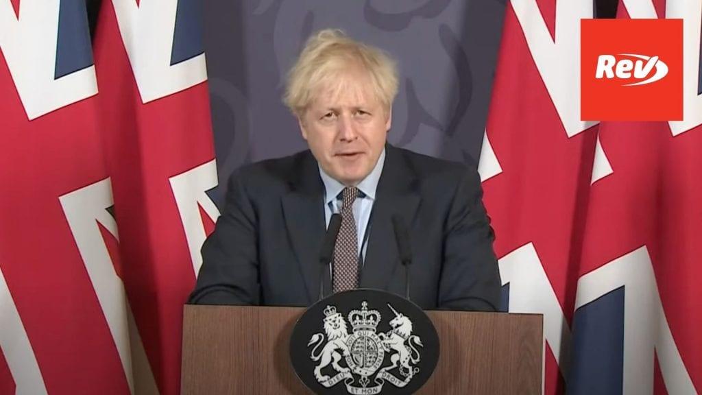 Boris Johnson Brexit Trade Deal Speech Transcript