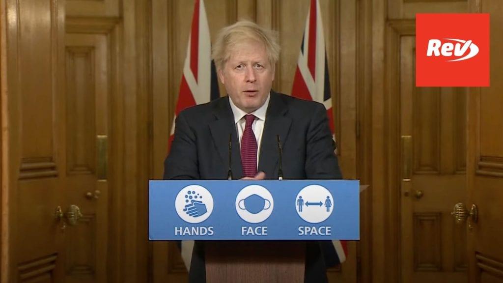 Boris Johnson COVID Press Conference December 19