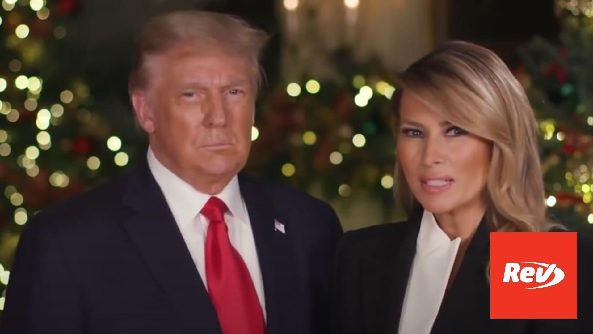Donald Trump & Melania Trump Christmas Speech 2020