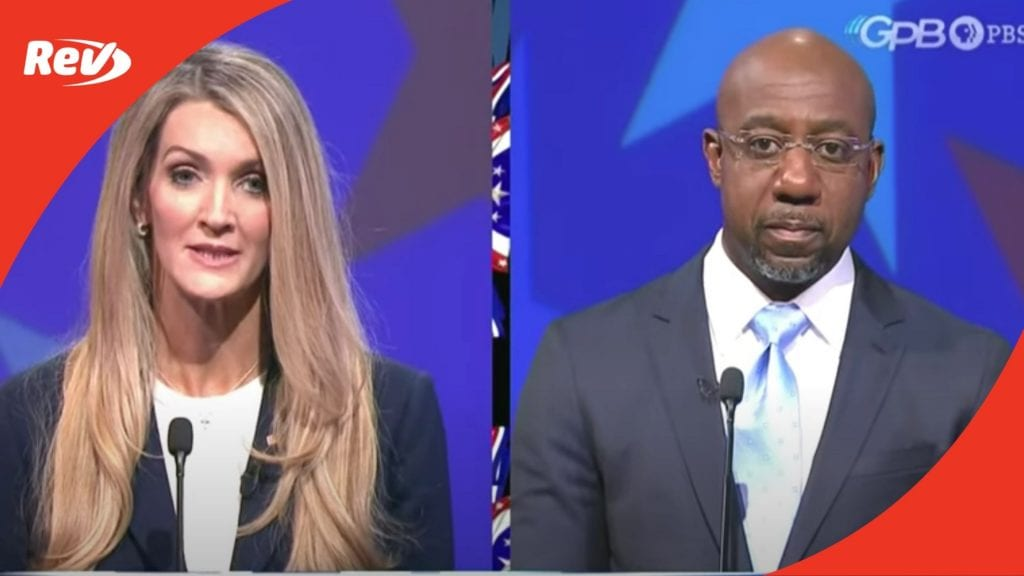 Georgia Senate Runoff Debate Kelly Loeffler Raphael Warnock