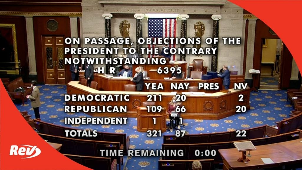 House Debates and Votes in Favor of 2,000 checks
