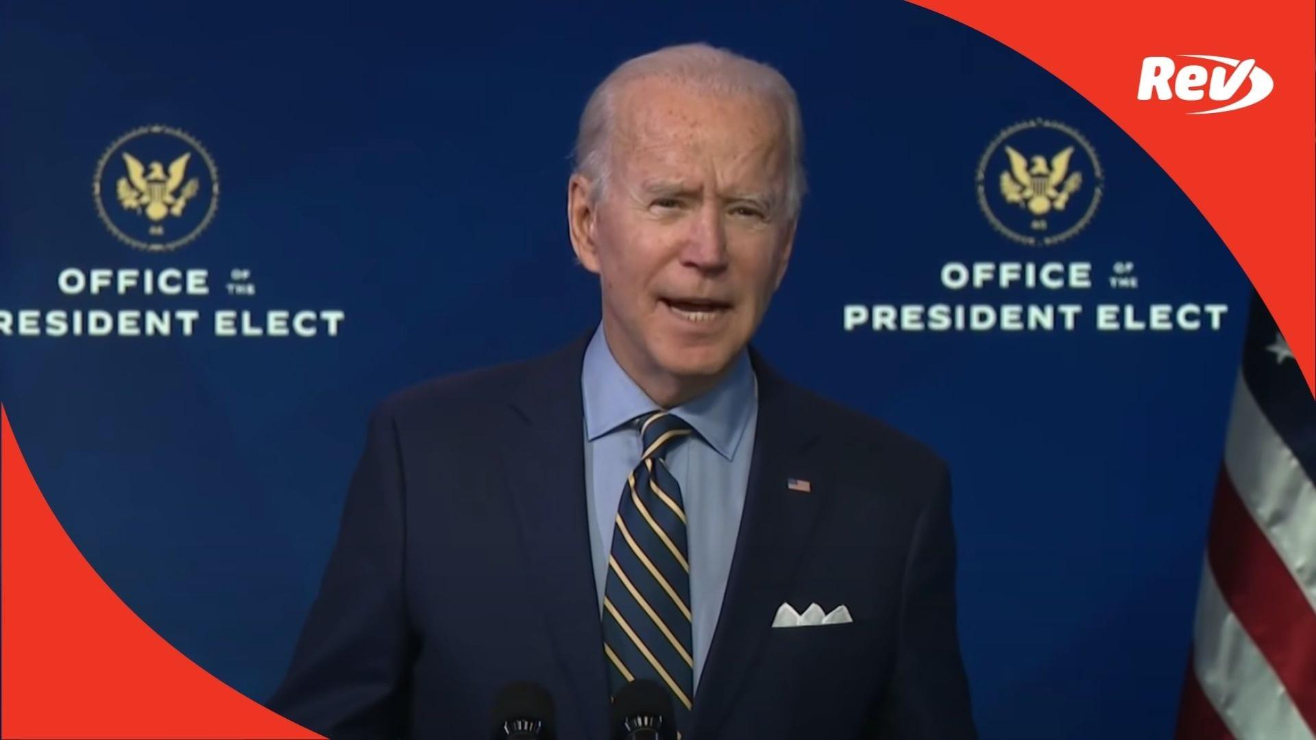 Joe Biden Speech December 28