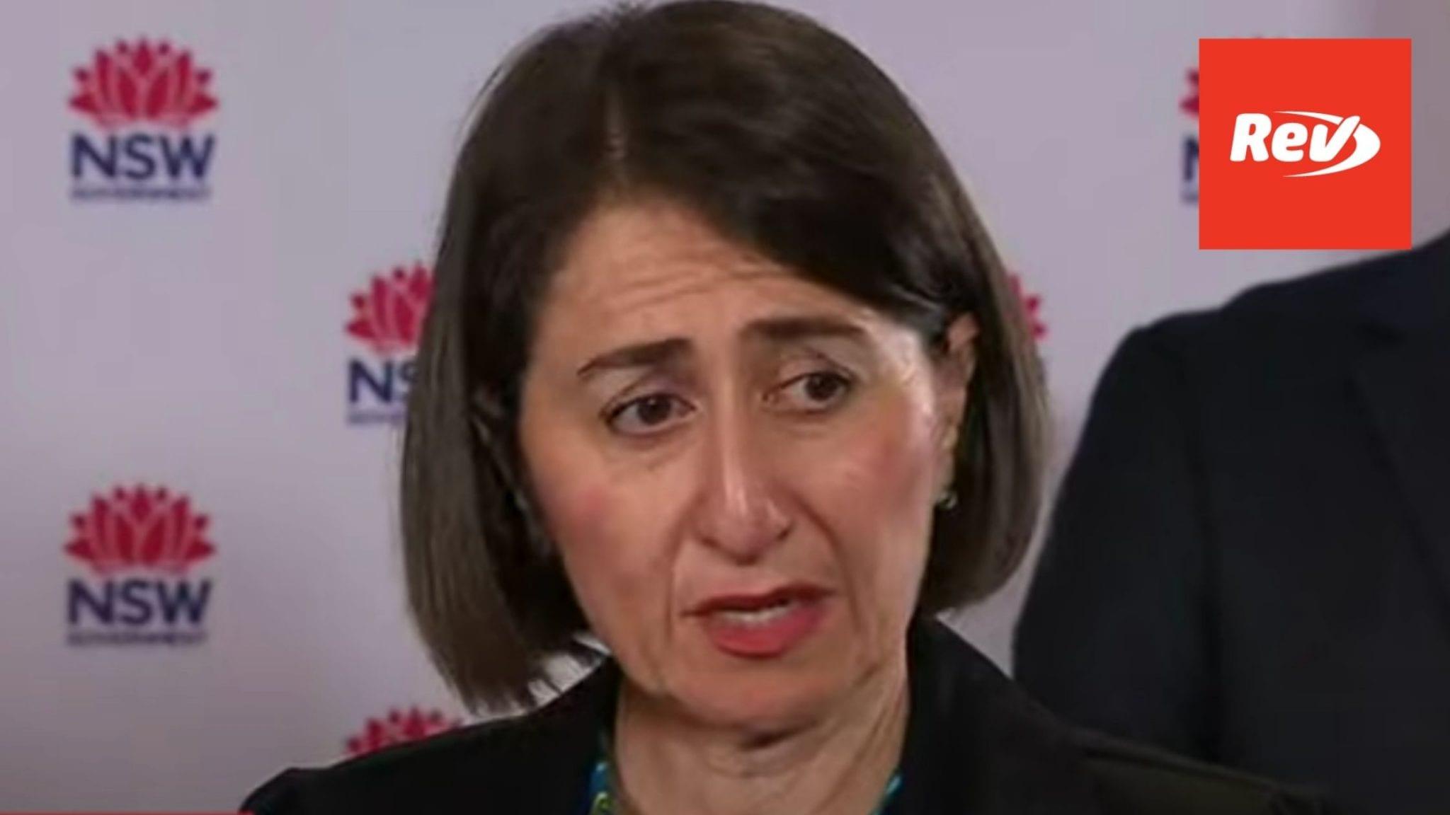 New South Wales Premier Gladys Berejiklian COVID-19 Update December 17