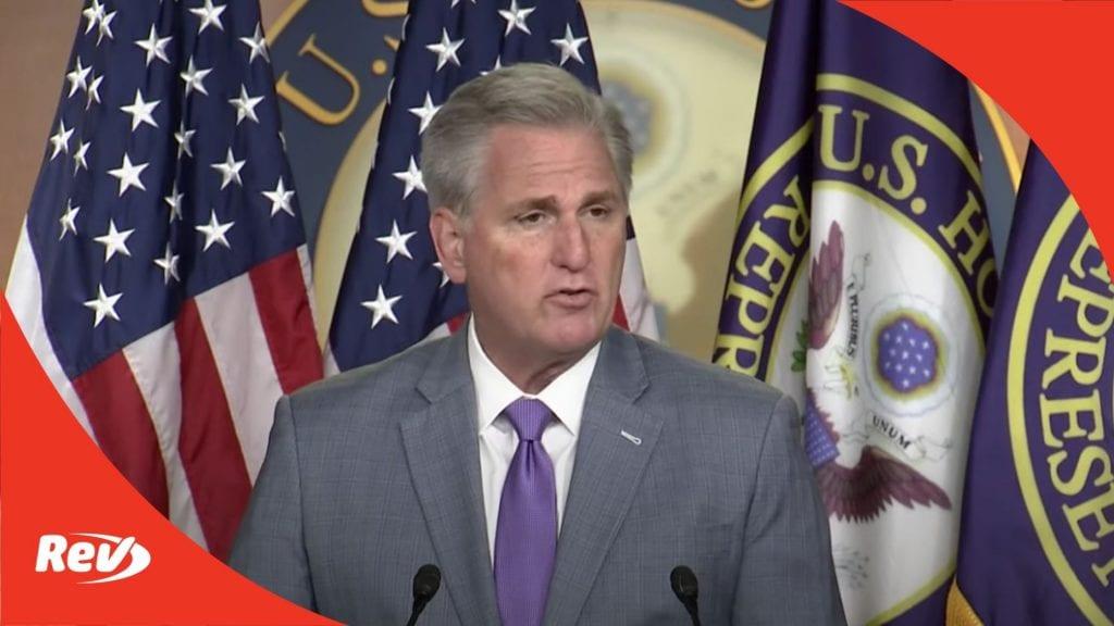 House Minority Leader Kevin McCarthy Press Conference Transcript December 3