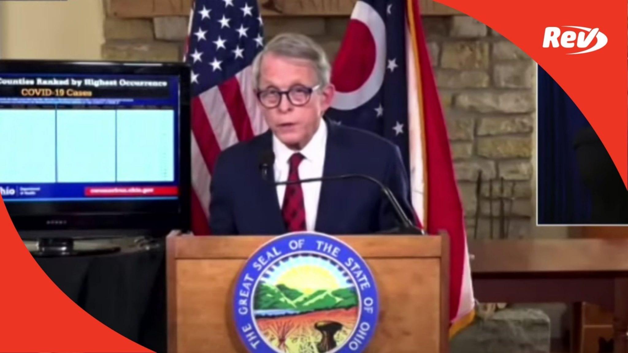 Ohio Gov. Mike DeWine COVID-19 Press Conference Transcript December 3