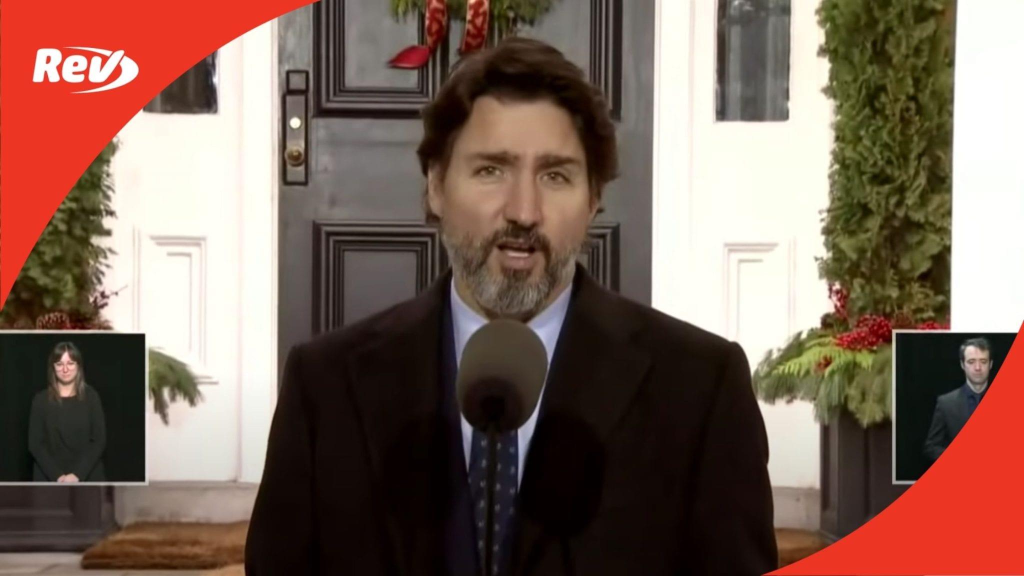Justin Trudeau December 4 COVID-19 Press Conference Transcript