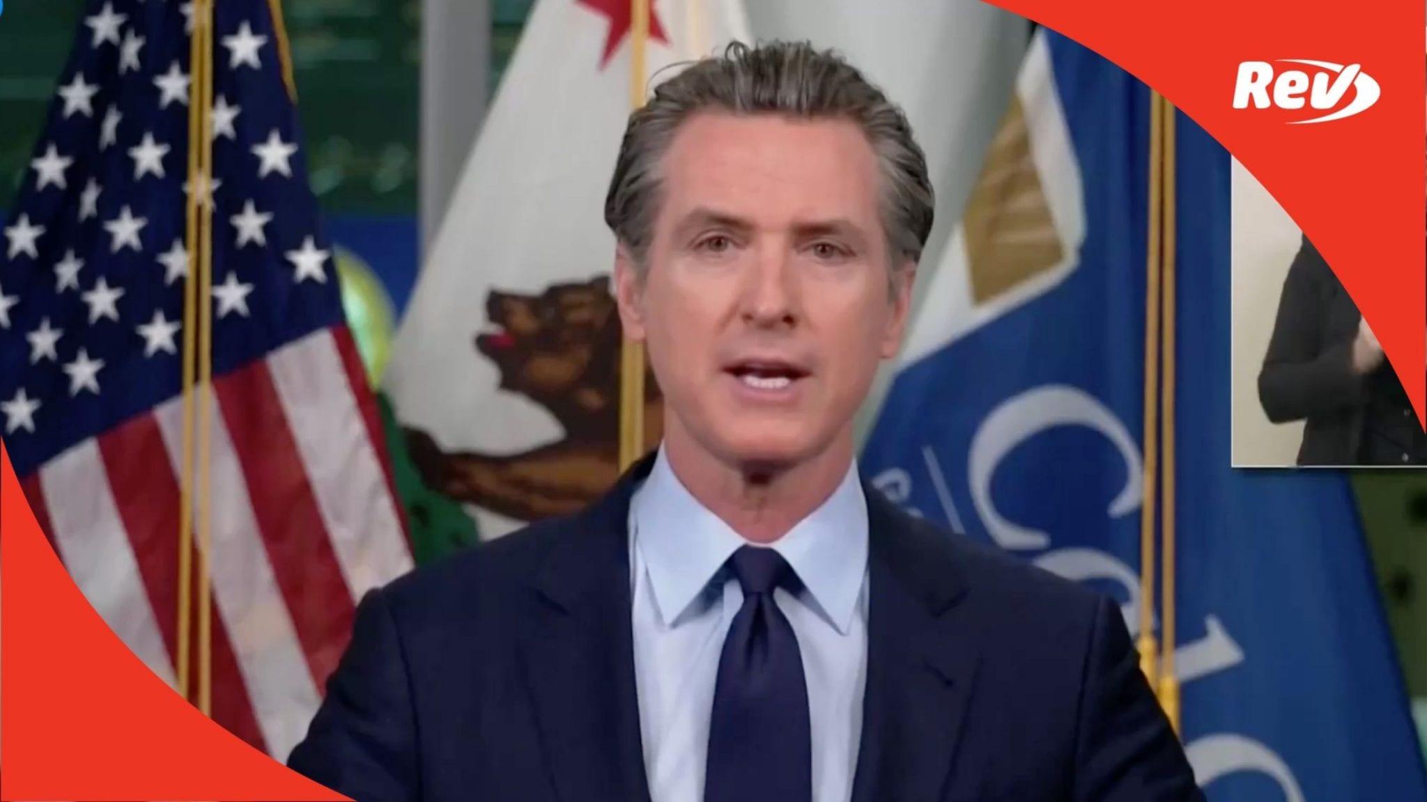 California Gov. Gavin Newsom COVID-19 Press Conference Transcript December 7