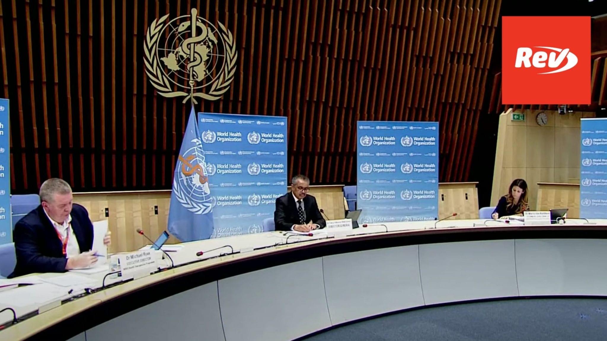 World Health Organization (WHO) Coronavirus Press Briefing Transcript December 7