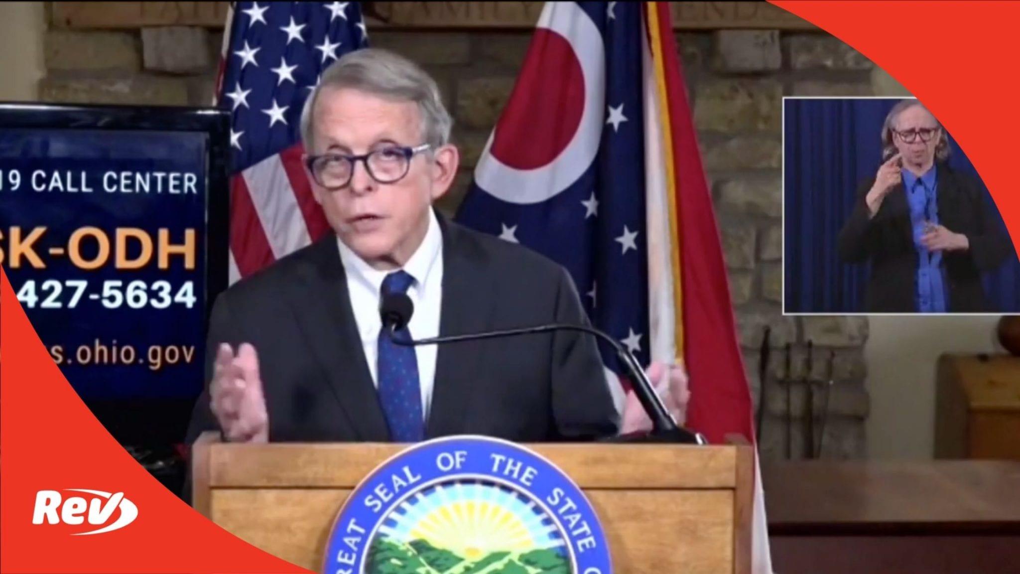 Ohio Gov. Mike DeWine COVID-19 Press Conference Transcript December 7