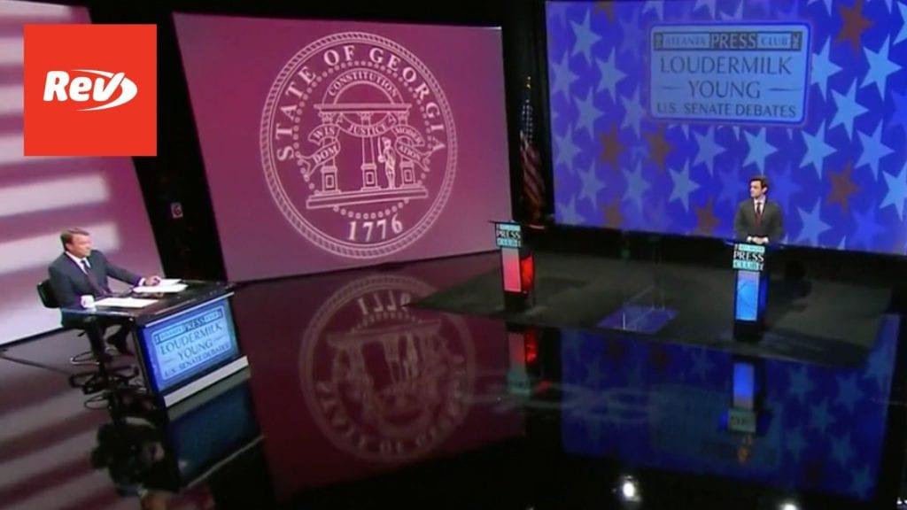 Jon Ossoff Georgia Senate Debate Transcript, Perdue Declines to Participate