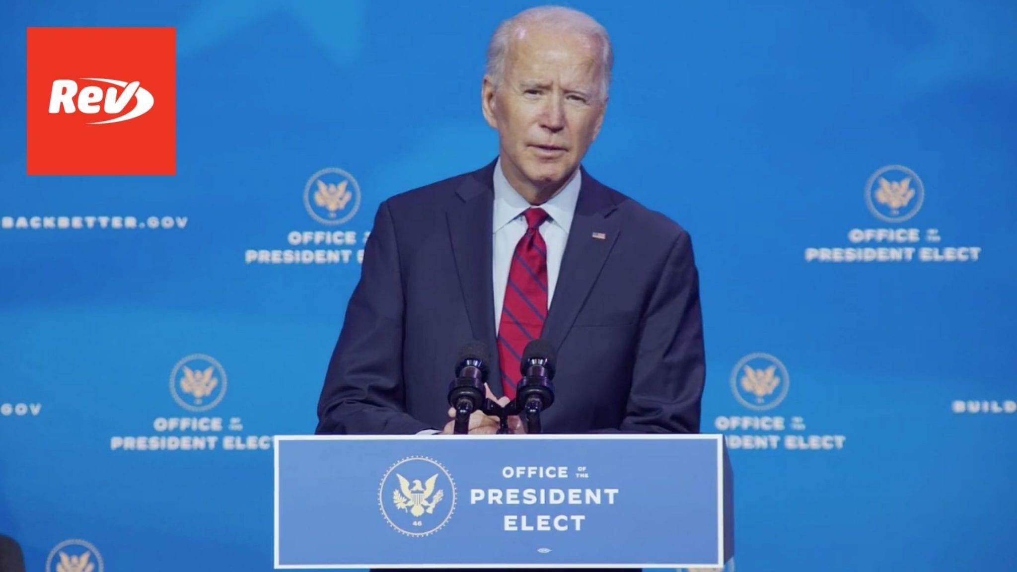 Joe Biden Announces Fauci & Key Health Team Picks Briefing Transcript December 8