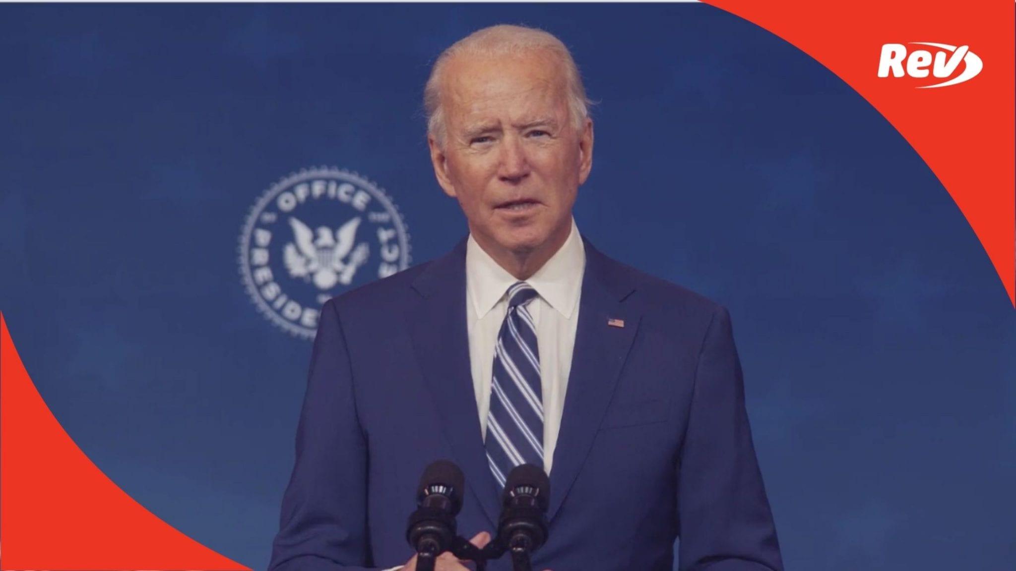 Joe Biden Introduces Gen. Lloyd Austin as Defense Secretary Nominee Transcript December 9