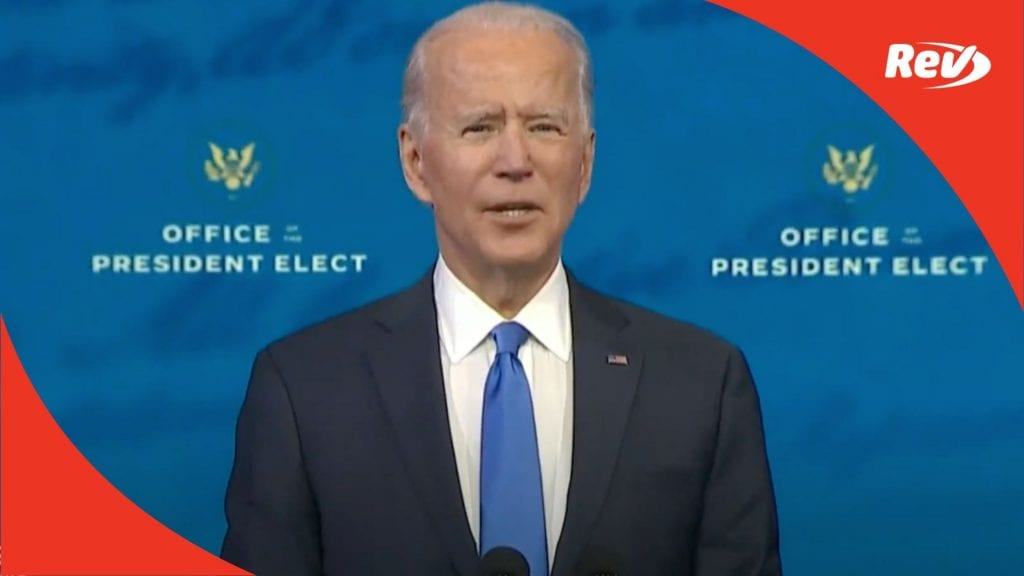 Joe Biden Speech After Electoral College Vote Transcript December 14