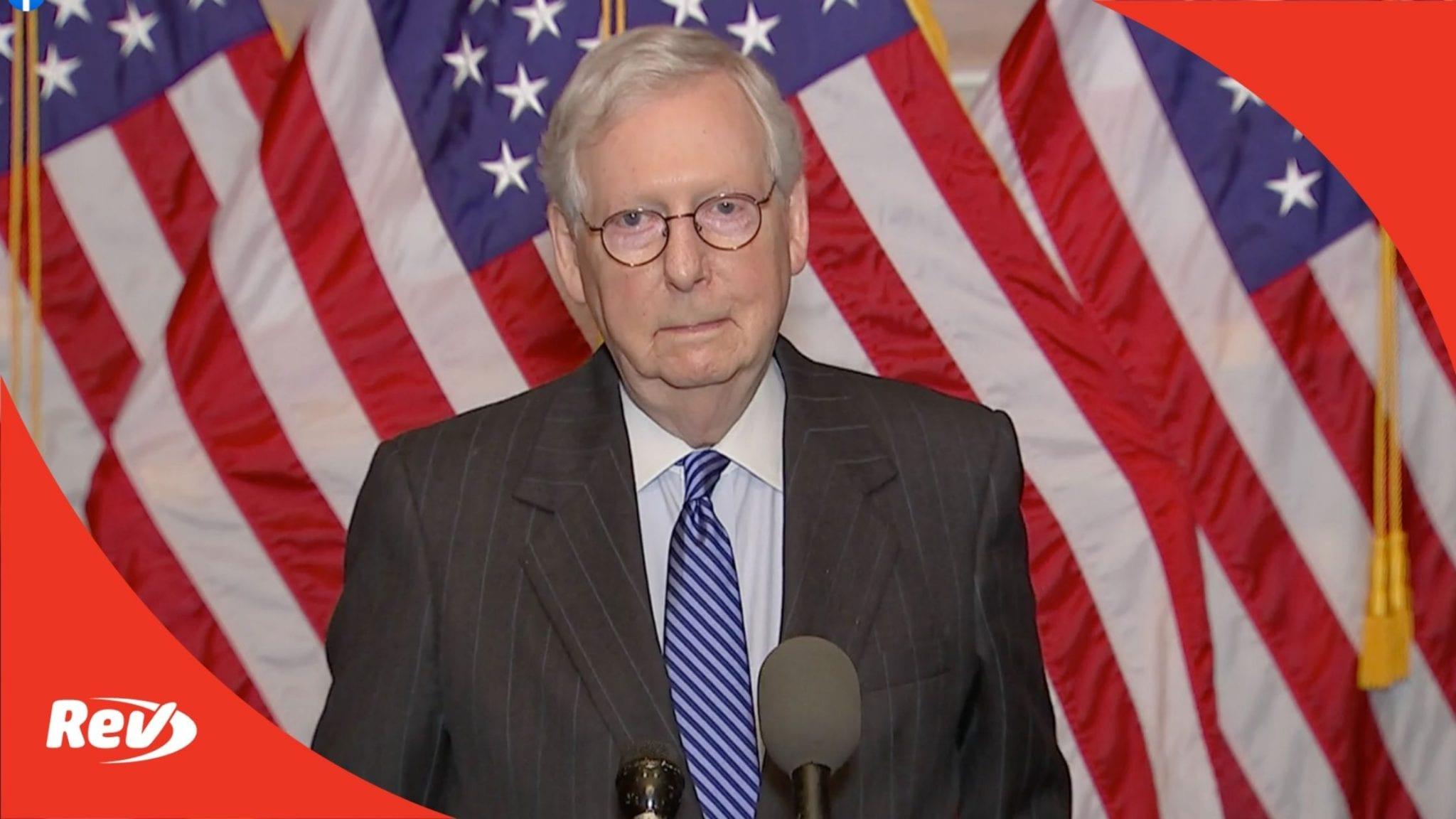 Mitch McConnell, Senate GOP Press Conference Transcript December 15