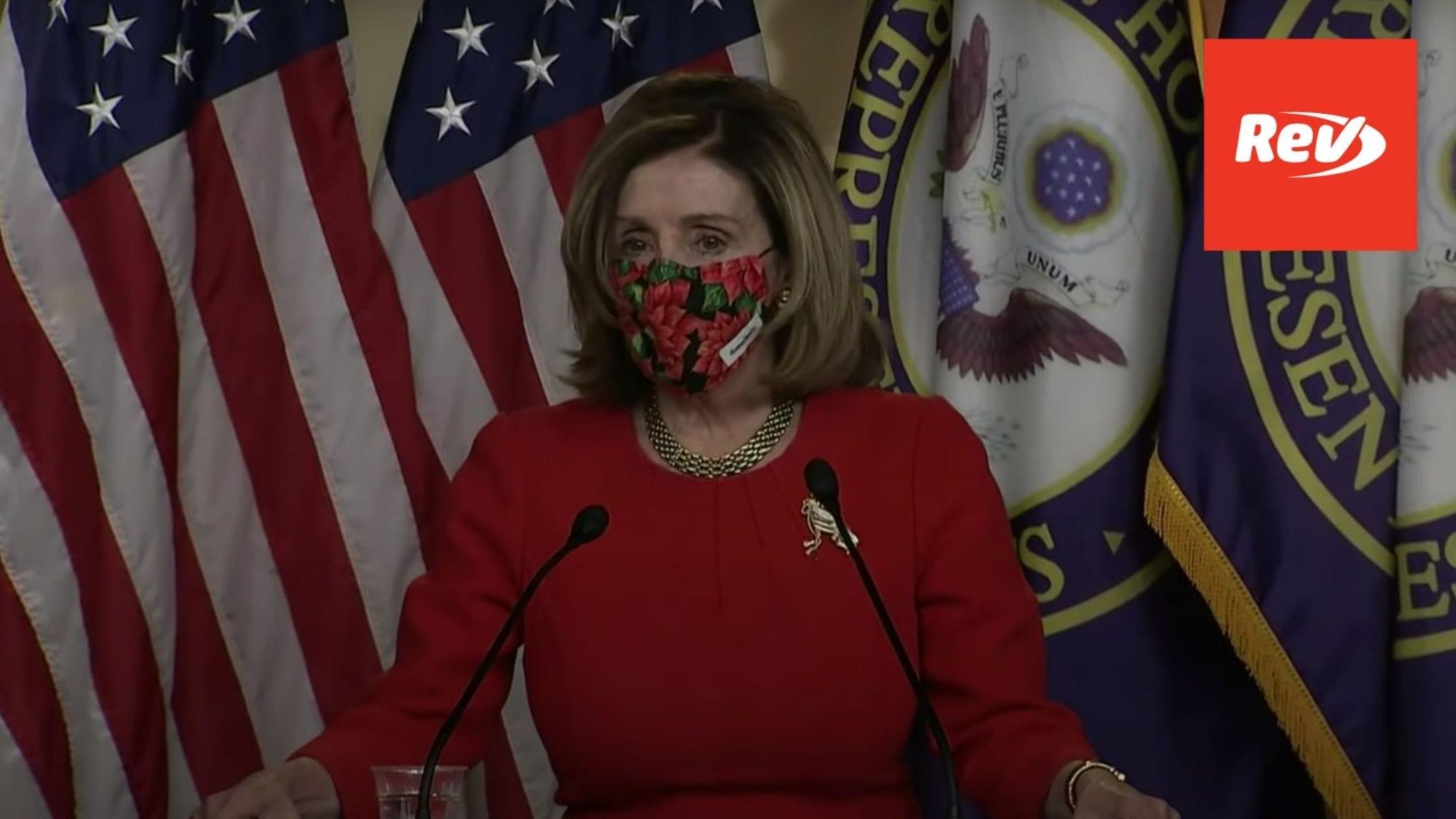 Nancy Pelosi, Chuck Schumer Press Conference Transcript December 21: COVID-19 Relief Stimulus