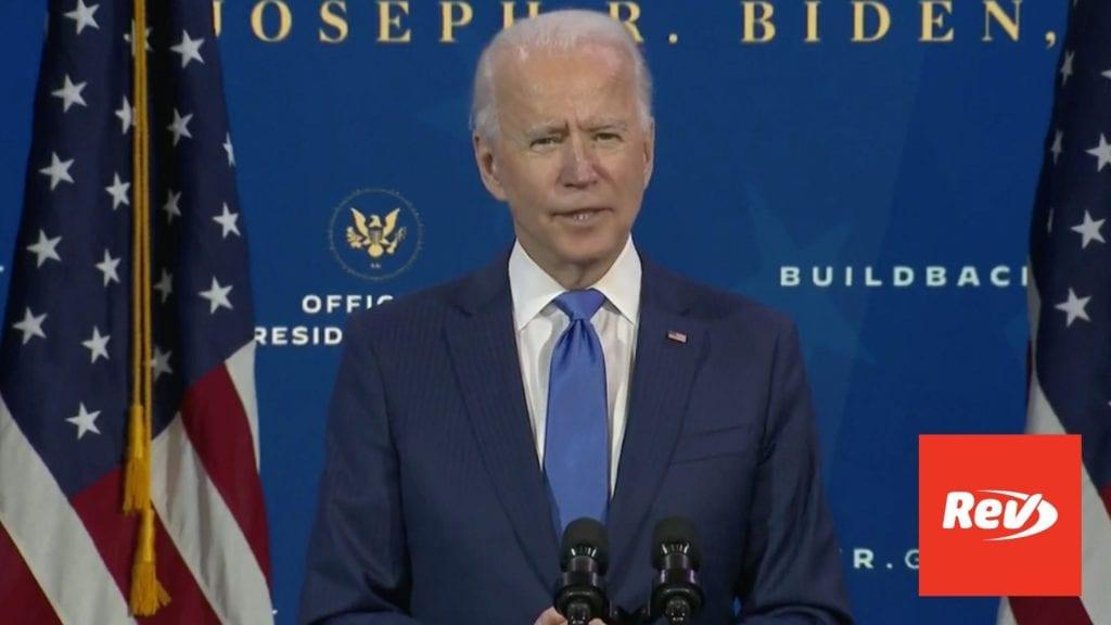 Joe Biden Announces Janet Yellen, Economic Team Press Briefing Transcript December 1
