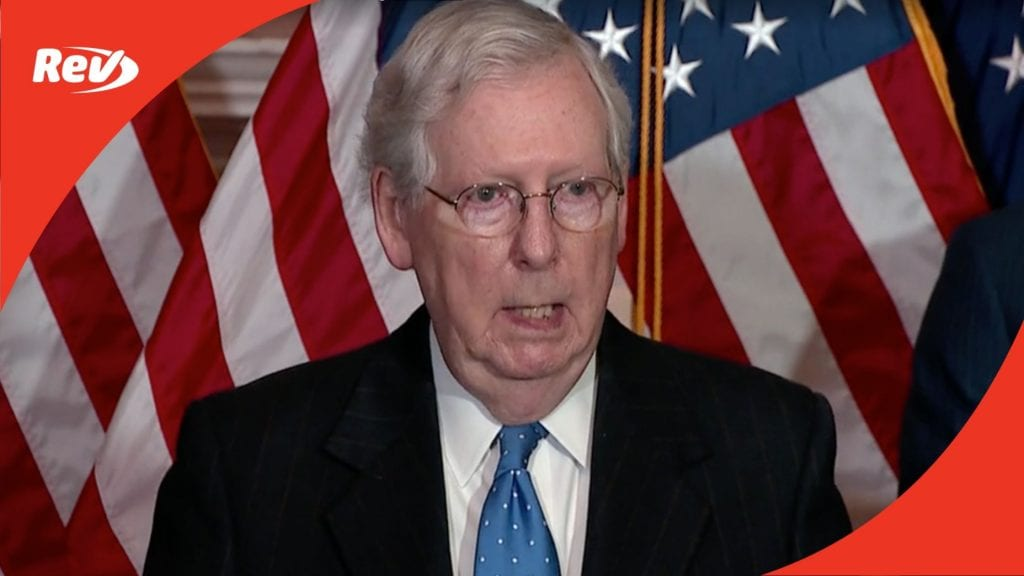 Mitch McConnell, Senate GOP Press Conference Transcript December 1: Coronavirus Relief