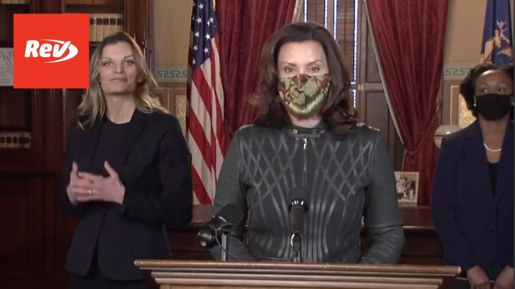 Michigan Governor Gretchen Whitmer COVID-19 Press Conference Transcript December 1
