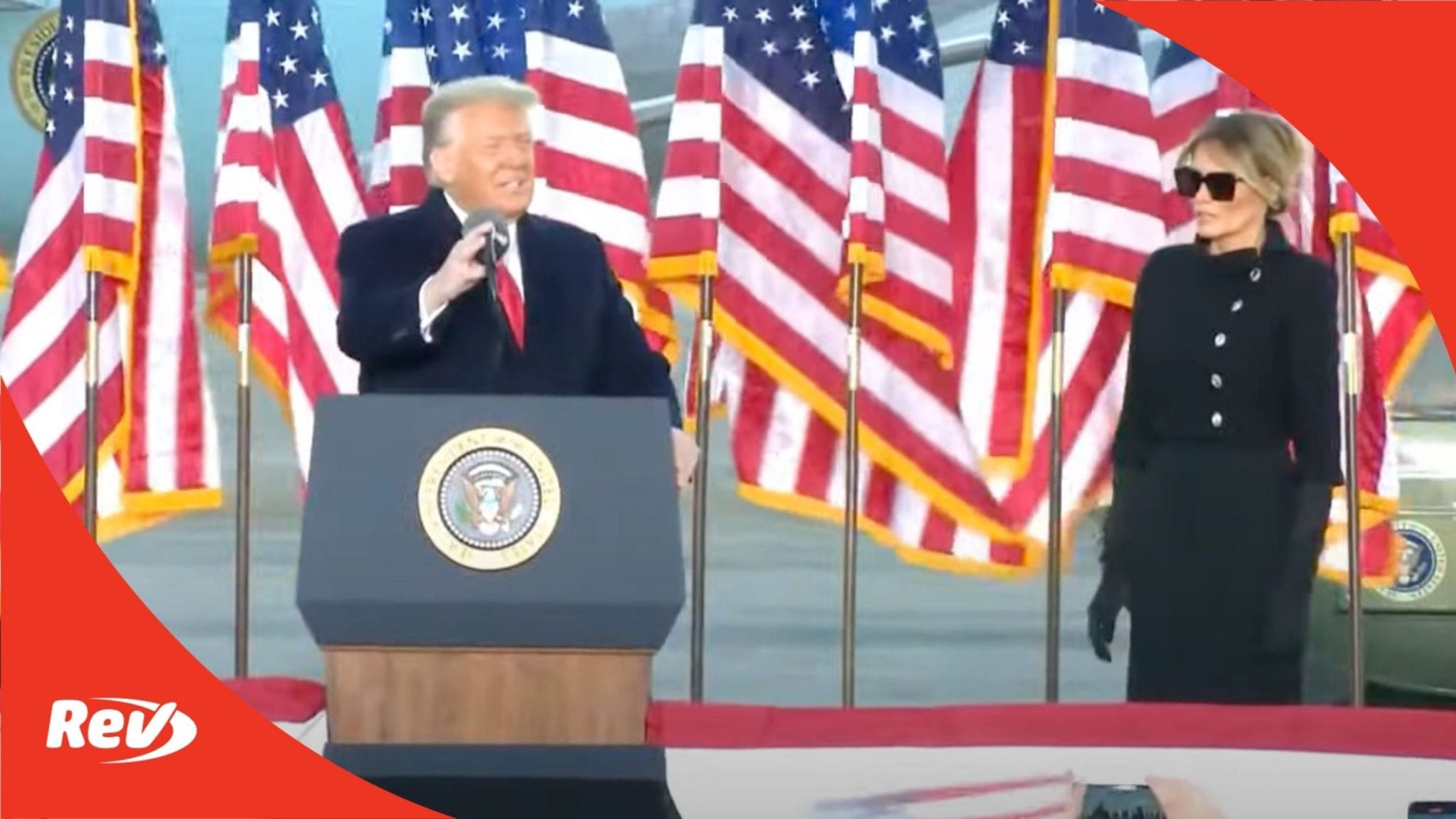 Donald Trump and Melania Trump Speech Transcript Departing White House